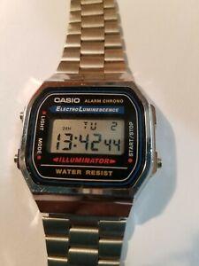 c9e8a092611f Casio A168 Alarm Chrono LCD Quartz Watch Collectible Water Resistent ...