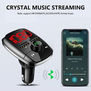 Drahtloser Bluetooth-FM-Sender im Auto MP3-Radioadapter Car Kit USB-Ladegerät