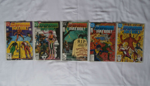 DC The Doom Patrol Comics 1987-88  # 1-5 NM condition all bagged and boarded