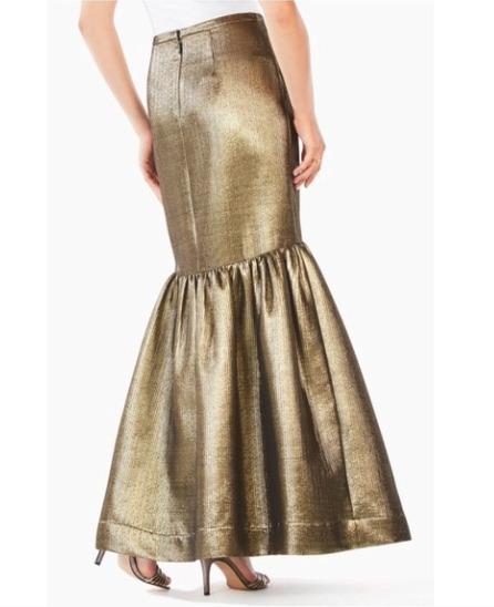 BCBG MAXAZARIA Gold Metalic Jen Mermaid Maxi Skir… - image 3