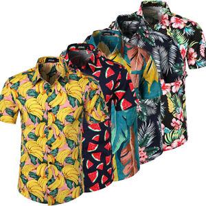 MENS-HAWAIIAN-SHIRT-STAG-BEACH-HAWAII-ALOHA-PARTY-SUMMER-HOLIDAY-FANCY