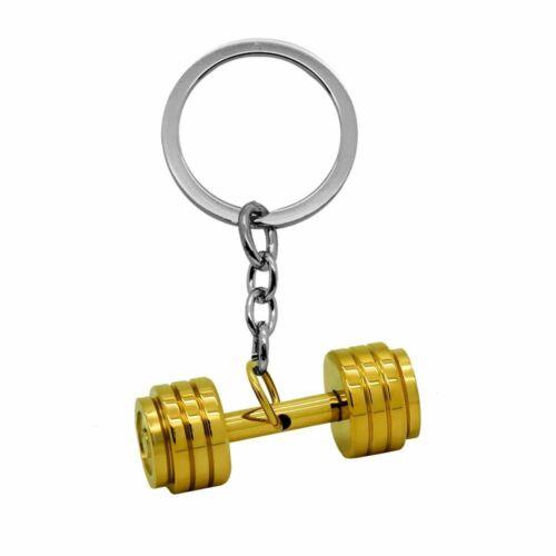 1 Porte-Clés Fitness Gants de Boxe Keyring Key Poids d/'haltère Pendentif Sportif