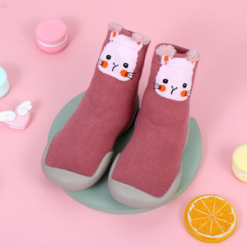 Kids Baby Girl Boys Toddler Anti-slip Slippers Socks Cotton Shoes Winter Warm
