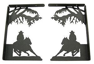 Barrel-Race-Horse-Shelf-Bracket-Set-Western-Racer