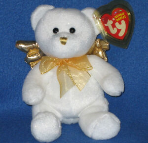 TY JUBILANT the GOLD ANGEL BEANIE BEAR - MINT with MINT TAGS