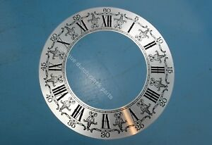 LARGE-SILVERED-DIAL-CHAPTER-FOR-GRANDFATHER-CLOCK-10-5-034-or-27-cm-NEW-OLD-STOCK