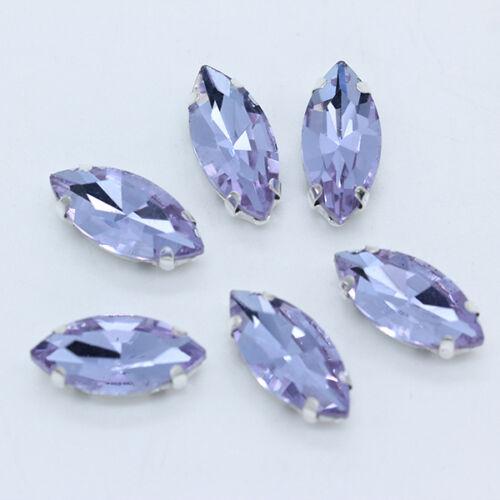 12p 9x18mm os Facetado Cristal Coser en joyas de diamantes de imitación granos flojos
