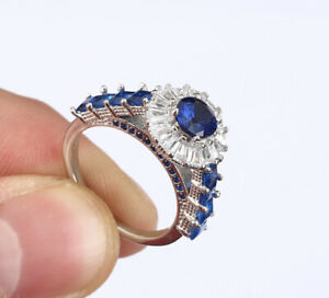 SQUARES-SAPPHIRE-925-SOLID-STERLING-SILVER-RING-SIZE-7-63409