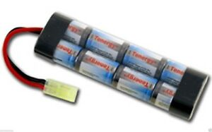 New-9-6v-1600mAh-NiMH-Airsoft-AEG-Gun-Mini-Flat-Battery-For-AK-47-M4-JG-CYMA