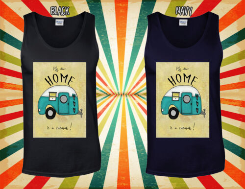 My Other Home As A Caravan Novelty Men Women Vest Tank Top Unisex T Shirt 962