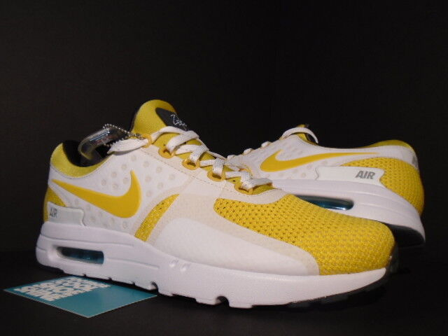 Nike Air Max ZERO 0 QS DAY WHITE VIVID SULFUR YELLOW SPACE BLUE ANTHRACITE DS 10