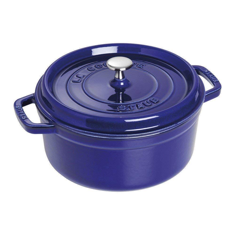 Staub 1102491 Cast Iron Round Cocotte Oven, 4 quart, Dark bleu
