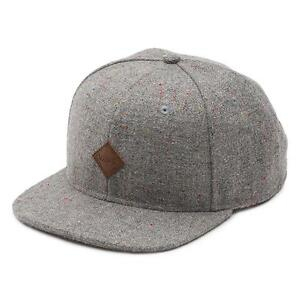 Vans Off The Wall Avery Gray Speck Wool Blend Adjustable Snapback ... 39c505d44c88