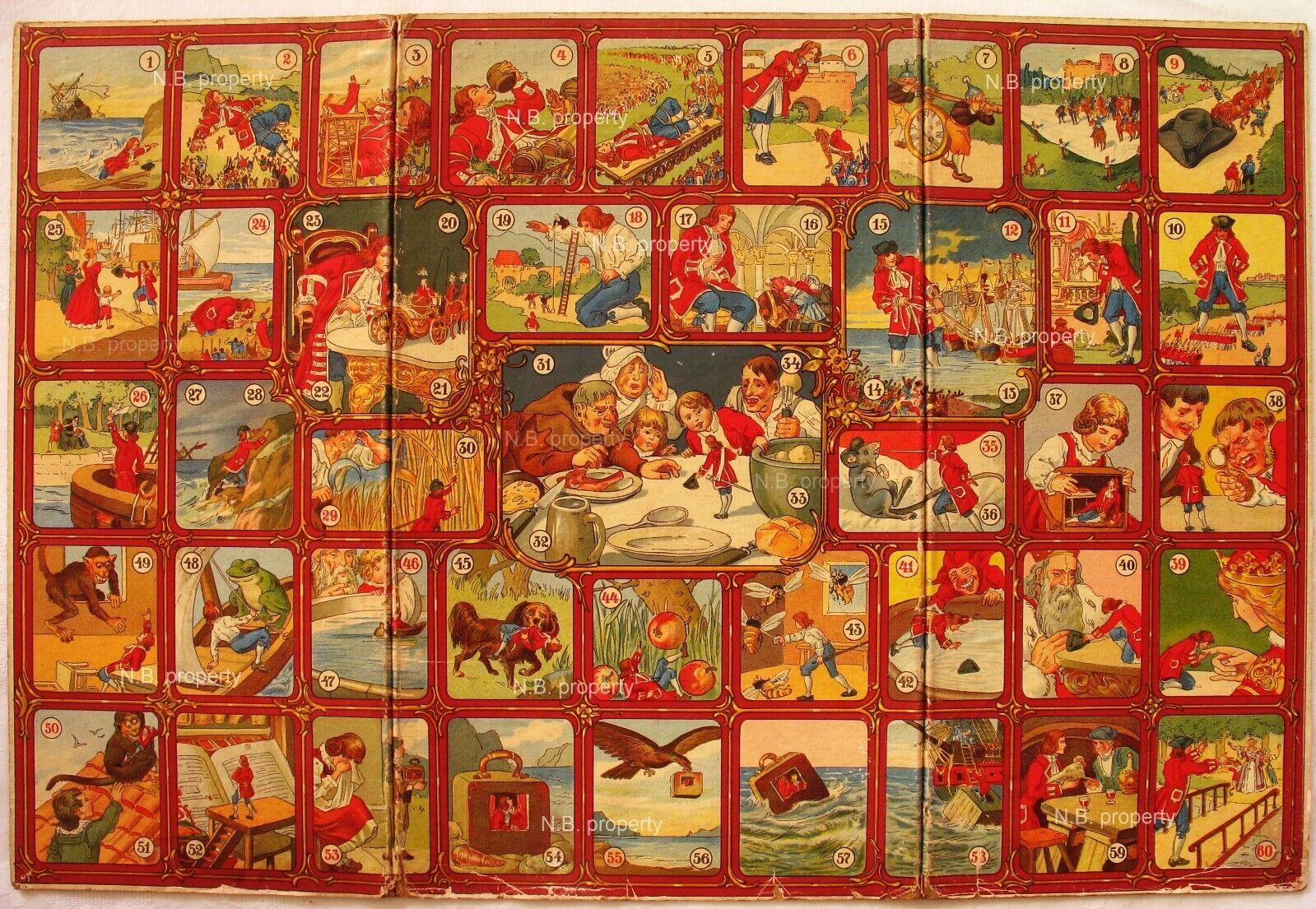 Alte Brettspiele Gulliver.Antico gioco da tavolo primi 900, brädspel