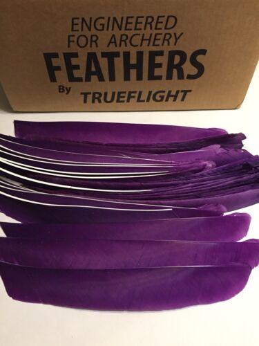 Full Length Purple Right Wing Fletching Arrow Archery Feathers 50 Ea TrueFlight