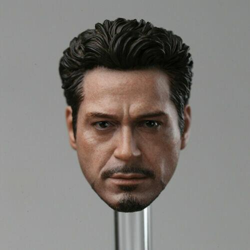 DJ Custom DJ-012 1//6 Iron Man Tony Stark Head Carved PVC Sculpt Model Toy