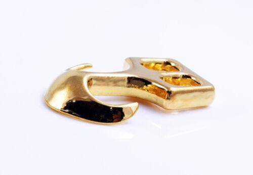 golden Paracord 26 x 18 mm 2x Ankerverschluss Armband Segeltau