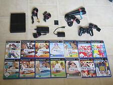 Playstation 2 Slim komplett mit Controller + 4 Singstar Spiele + Micros + MC PS2