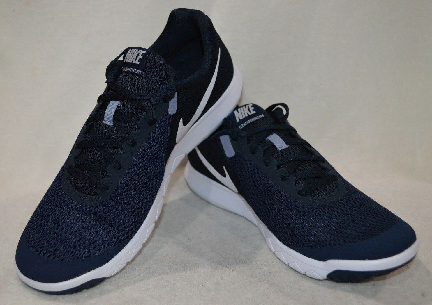 Nike Men's Flex Experience RN 6 Obsidian/White Running Shoes-Assorted Sizes NWB