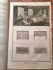 Enciclopedie Diderot 1752-1770: Ebenisterie-Marqueterie, Ebanisteria, 11 Tavole