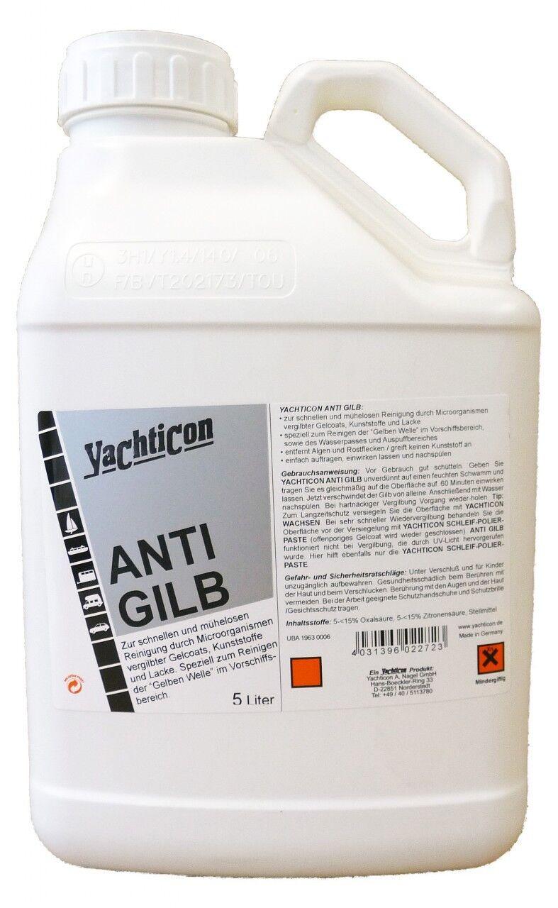 Yachticon Anti Gilb Gilb Gilb Entferner 5 Liter - Reiniger gelbe Welle Wasserpass Stiefel c5afac