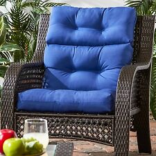 """Patio Chair Cushion Set Of 2 Wicker Furniture Outdoor High Back Deep Seat 44""""x22"""