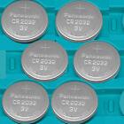6 NEW PANASONIC CR2032 ECR 2032 3v Lithium Batteries Exp.2025 CR 2032