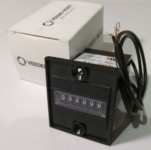 VEEDER ROOT 779086-207 PANEL MOUNT TOTALIZER// COUNTER 12V 1.5W NON-RESET 6-DIGIT