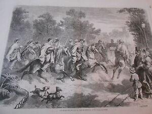 Gravure-1863-Les-spahis-escortant-le-prince-imperial