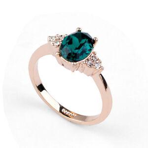 Designer Damen Ring Gold 18k Mit Grunem Stein Verlobungsring