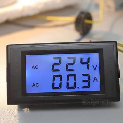 New AC Digital Ammeter Voltmeter LCD Panel Amp Volt Meter 100A 300V 110V 220V #1