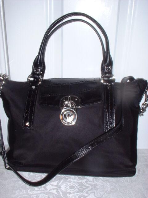 Nwt Authentic Michael Kors Hamilton Medium Slouchy Satchel Handbag Black