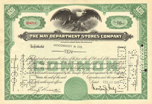 MAY-DEPARTMENT-STORES-stock-certificate-gt-now-Macy-039-s