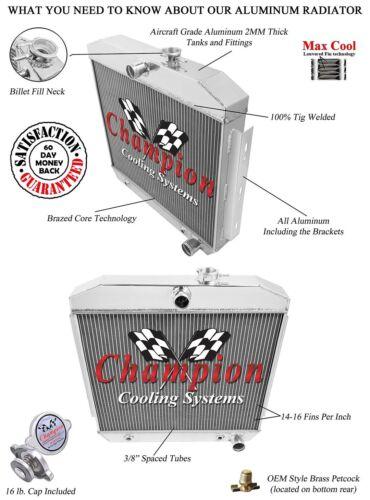 1955 1956 1957 Chevy Bel Air 3 Row Champion DR Radiator V8 Mounting Bracket
