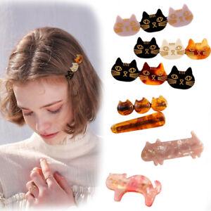 2pcs-Women-Girls-Acrylic-Cat-Barrette-Headband-Hair-Clips-Hairpins-Hair-Ornament
