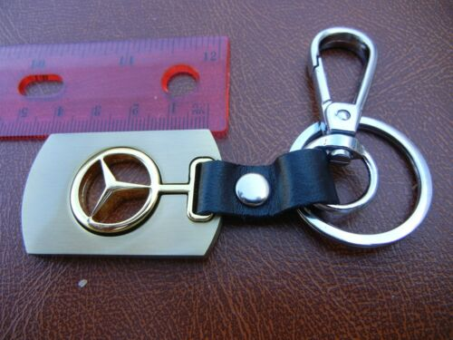 MERCEDES   badge emblem keychain Key Leather   Ring USA Seller FAST  SHIPPING
