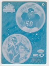 1/1 Mike Singletary HAROLD CARMICHEAL Printing Press Plate 1994 BEARS EAGLES HOF