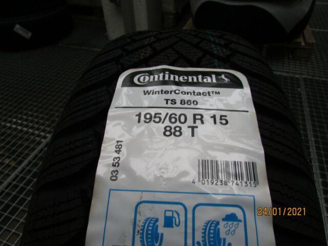 Continental WinterContact TS 860 195/60 R15 88T M+S Winterreifen 2 Stück