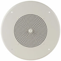 Bogen Aswg1 Powered 8 Ceiling Speaker 1w With Fixed Volume Control - Off White on sale