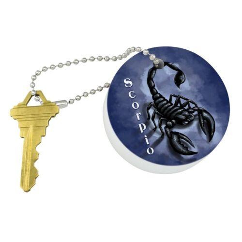 Scorpio Zodiac Horoscope Round Floating Foam Boat Keychain