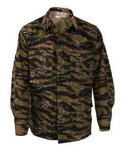 Ab 1945 Niedrigerer Preis Mit Us Army Asiantigerstripe Bdu Battle Dress Coat Jacke Tiger Stripe Xlarge Regular Bekleidung
