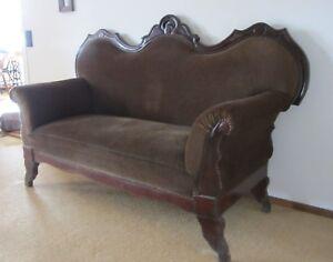 Antik Grunderzeit Biedermeier Sofa Couch Holz Ebay