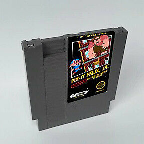 Fix-It Felix JR 72 pins 8 bit Game Cartridge Card For Nes US Version