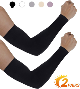 for Men Aegend UV Protection Cooling Arm Sleeves 2 Pairs UPF 50 Sun Sleeves