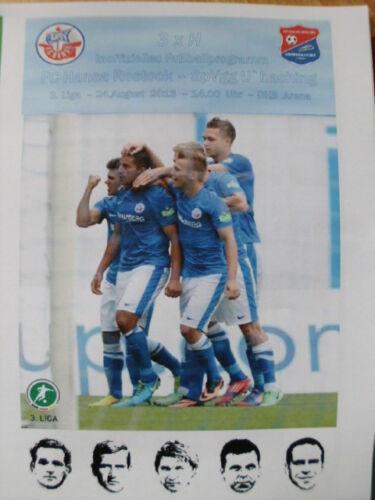 SpVgg 3 Unterhaching 24.08.2013 Ostseestadion Liga FC Hansa Rostock