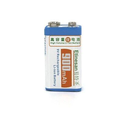 Etinesan Big capacity 900mAh 9v li-ion lithium Rechargeable 9 Volt Battery
