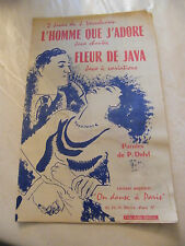 Partition L'homme que j'adore Fleur de java Verschueren 1956 Music Sheet
