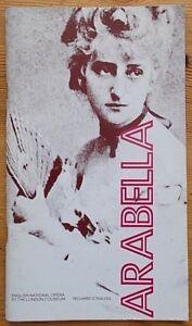 Arabella programme ENO English National Opera 1980 Josephine Barstow Graham Clar
