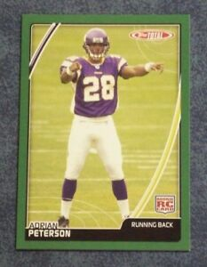 Details About 2007 Topps Total Adrian Peterson Rookie Card 456