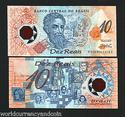BRAZIL 10 RIELS P248a 2000 POLYMER COMMEMORATIVE CURRENCY MONEY NOTE + FOLDER